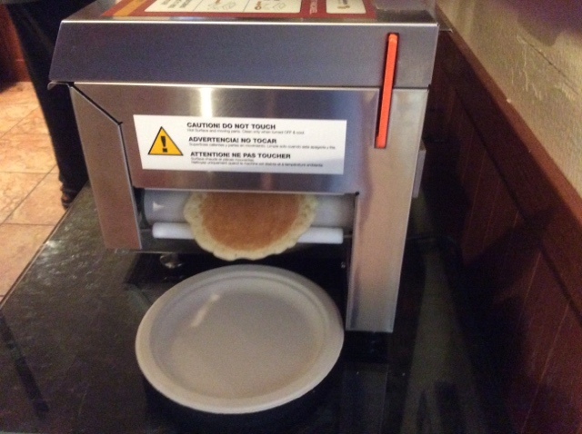 A pancake making machine